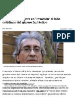 David Roas Explora en _Invasión_ El Lado Cotidiano Del Género Fantástico