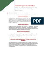 Niveles y Elementos de Programación de Visual Basic