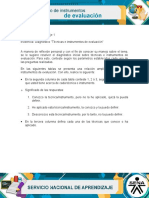 "Diagnostico ""Técnicas e Instrumentos de Evaluación"""