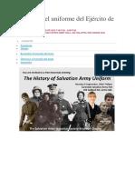 Historia Del Uniforme Del Ejército de Salvación