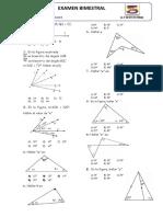 Examen Bimestral Geometría (Todos Los Grados)