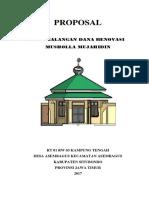 Proposal Renovasi Musholah