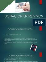 Donacion Entre Vivos