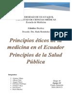 PRINCIPIOS DE LA BIOÉTICA Y PRINCIPIOS DE LA SALUD PUBLICA