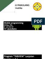 Mobile Programming Pertemuan 8.1 & 9