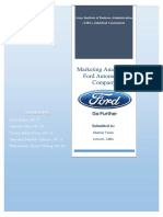 Marketing Report on Ford