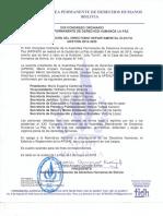 Acta Directiva 2018-2020 de la APDHLP