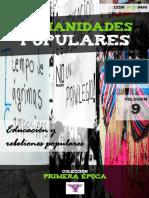 """Humanidades Populares, volumen 9, número 14. 2016. Educación y rebeliones populares [colección """"Primera época""""]"""