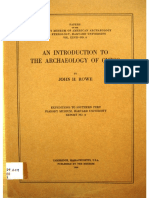 ROWE, J. an Introduction to the Archaeology of Cuzco. 1944-1 Export Export