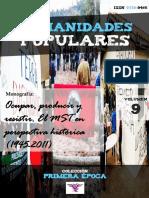 """Humanidades Populares, volumen 9, número 15. 2016. Ocupar, producir y resistir. El MST en perspectiva histórica (1945-2011) [colección """"Primera época""""]"""