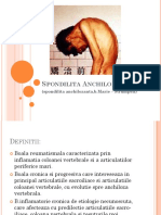 Curs Spondilita Anchilopoetica
