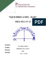 Equilibrio Acido - Base