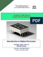 Com 112 Intro to Digital Electronics Theory