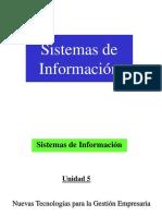 Unidad 5 de Sistemas de Información - Nuevas Tecnologías Para La Gestión Empresaria