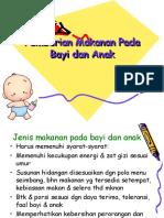 Pemberian Makanan Pada Bayi Dan Anak