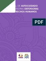 Manual autocuidado para personas defensoras de derechos humanos