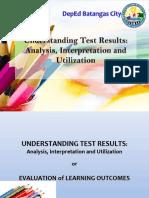 Understanding Test Results Analysis 2