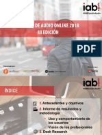 Estudio Audio Online Iab Spain 2018