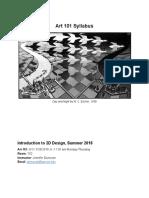 ART 101 Syllabus SU 2018