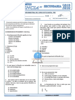 Examen Mensual de Filosofia - Pre Uniciencia