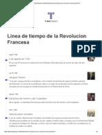 Linea de Tiempo de La Revolucion Francesa