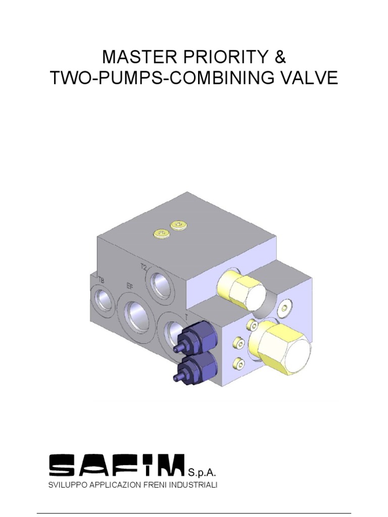 Master Priority Two Comb Valve Pump This Application Diagram Indicates How Loadsensing Valves Control