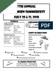 SummerFest 2018 Flyer