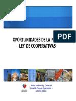 Nueva Ley de Cooperativas