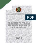 Reglamento Para Rendicion de Cuenta Documentada 2012