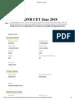 Dnb Cet June 2018