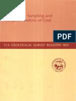 Methods for Sampling Inorganic Anaylsis of Coal
