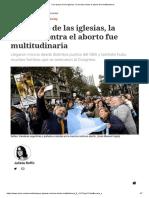 Con Apoyo de Las Iglesias, La Marcha Contra El Aborto Fue Multitudinaria