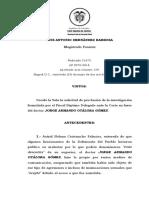 CSJ Sala Penal, Auto AP-20702018 (51870), 230518 - JORGE ARMANDO OTÁLORA GÓMEZ