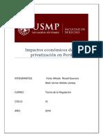Impactos Económicos de La Privatización en Perú