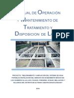 Manual de Op y Mant. Disposicion de Lodos