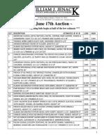 June 17 Fine Art - Print Catalog 13 Pages
