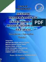 Monografia Delitos Informaticos Ley30096 Su Modificacion