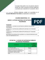 Empleo de Sustancias(Anexo a)