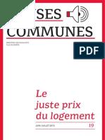 Le droit au logement - Revue Causes communes n°19