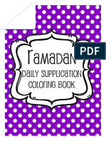 Coloring Pages - Daily Supplications