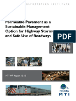 1626 Permeable Pavement for Highway Stormwater Sustainable Management and Safe Roadways