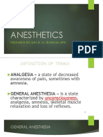 Anesthetics Handouts