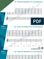 Notas Del Diapason en El Pentagrama (1)