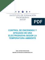 Control de Encendido y Apagado de Una Electroducha Según La Temperatura Ambiente