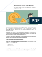 Fuentes de Financiamiento Para Un Nuevo Proyecto