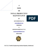 A Paper on Total Productive Maintenance