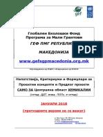 Napatstvija Kriteriumi Formulari GEF SGP MK JAN 2018