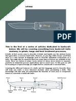 Bushcraft Knife Anatomy