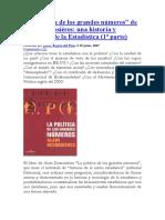 Act.5 Segura, Comentario sobre La política de los grandes números
