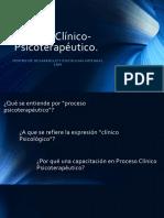 Proceso Clínico Psicoterapéutico